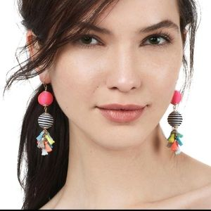 🌺🌵BNWOT tassel colorful fun statement earrings